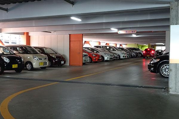 ショッピングモールの駐車場