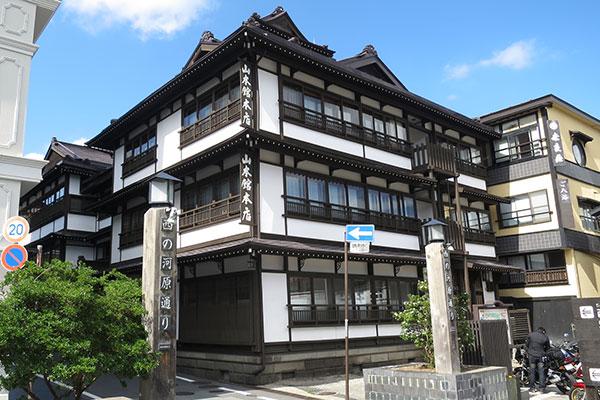 草津温泉の旅館街
